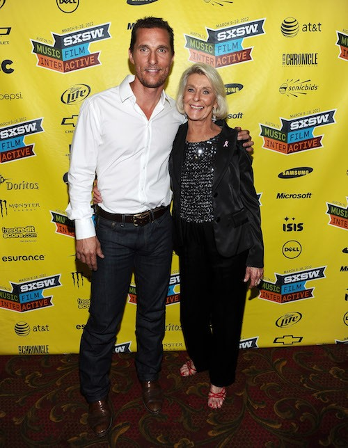 Matthew McConaughey and his mother