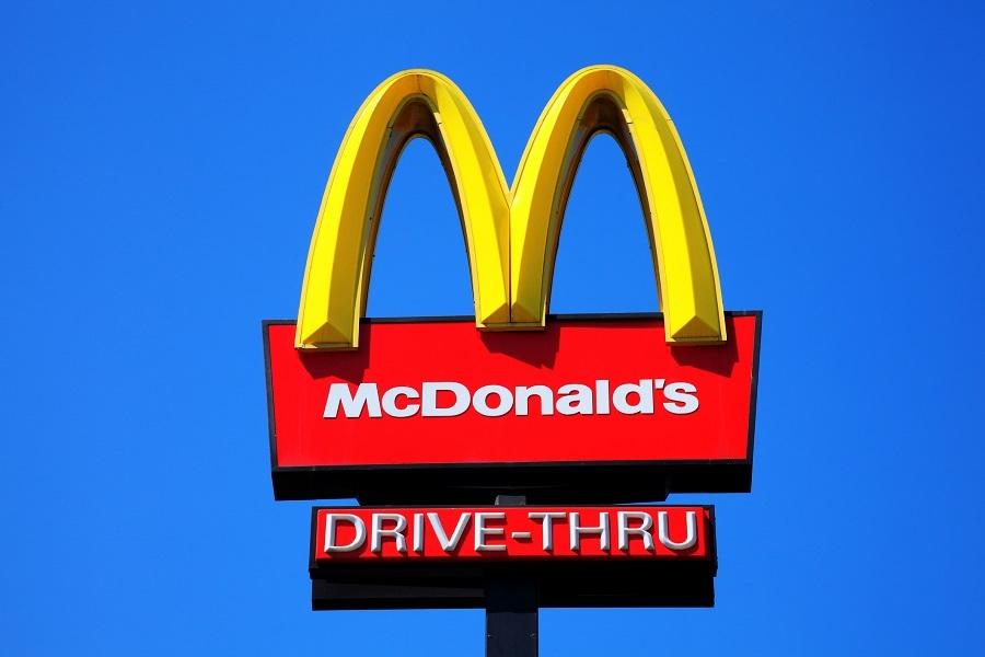 McDonald's yellow and red drive-thru logo