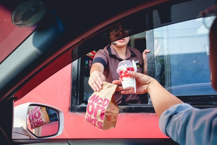 McDonald's drive thru service