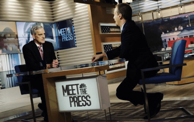 An interview taking place on 'Meet the Press'.