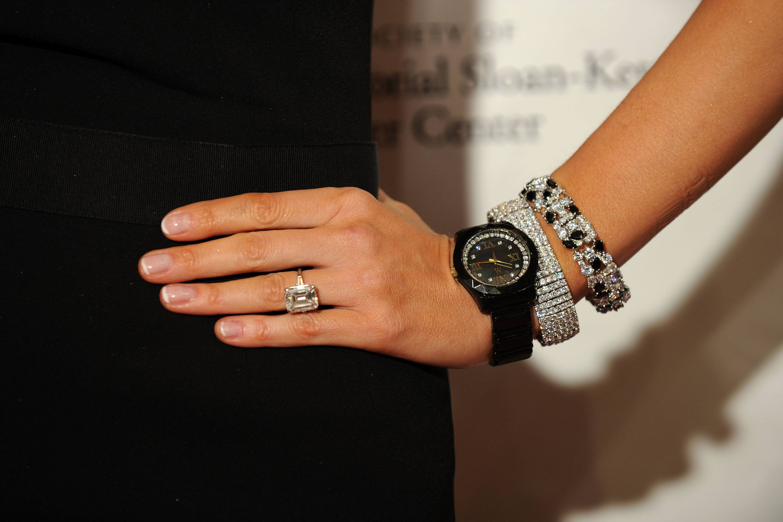 Close up of Melania Trump's engagement ring