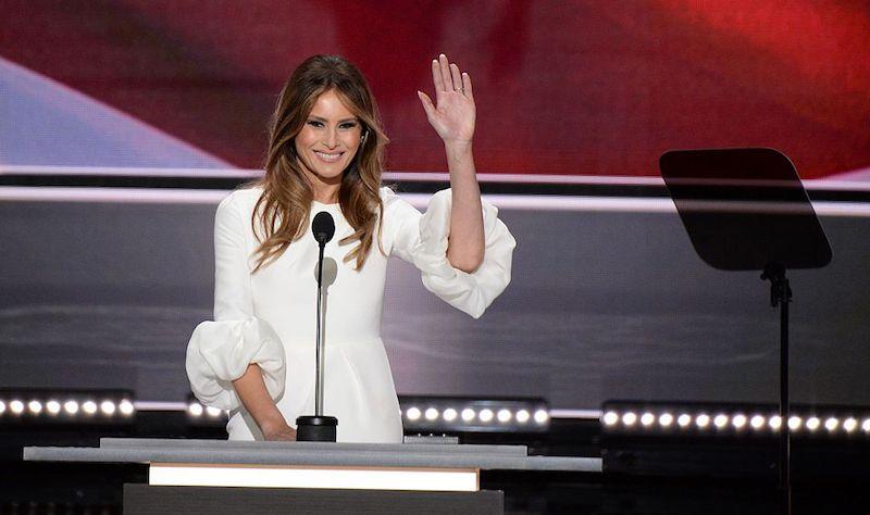 Melania trump giving republican national convention speech