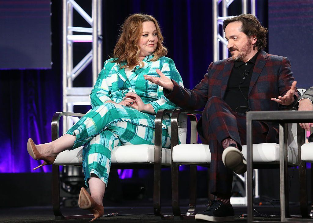 Producer/actress Melissa McCarthy (L) and producer/actor/director Ben Falcone