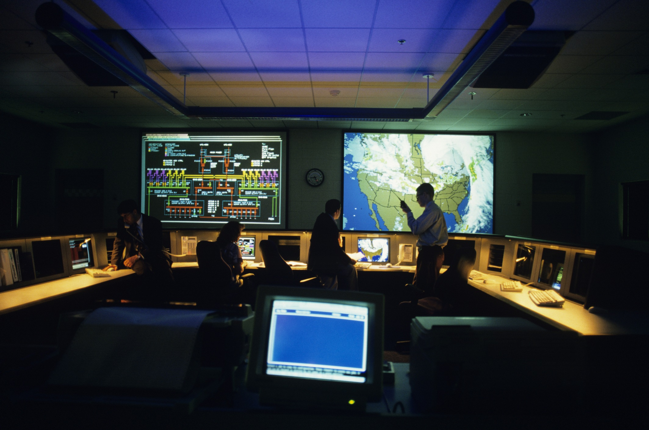 Weather monitoring for Shipping in control room