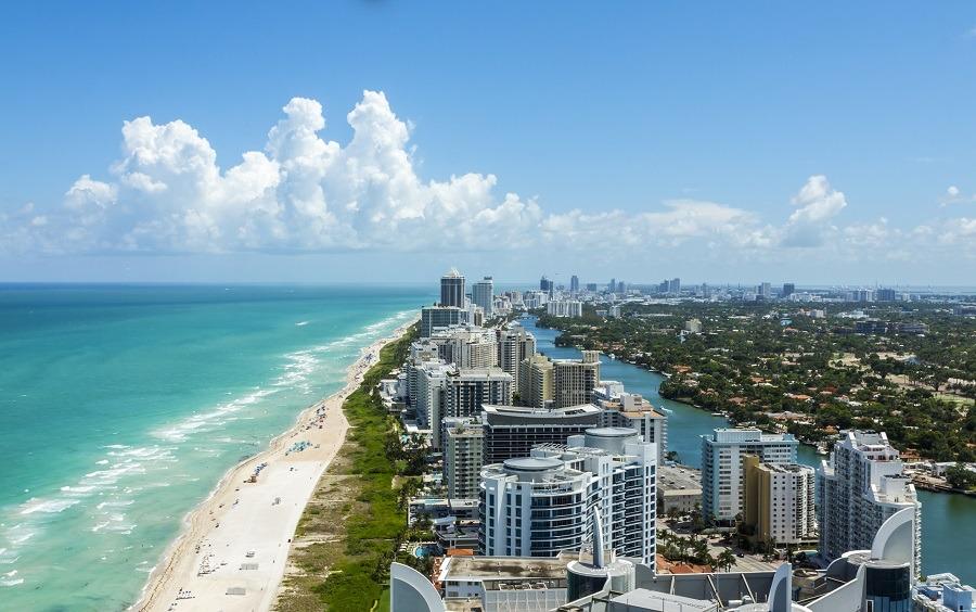 Beach in Miami.