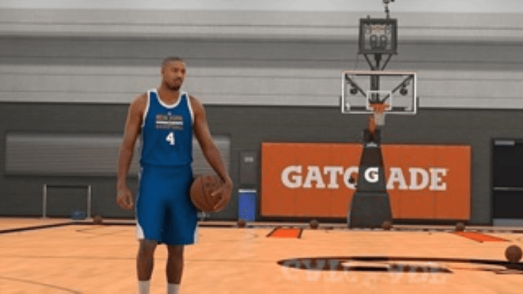 Michael B Jordan NBA game