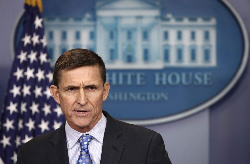 Michael Flynn giving a speech