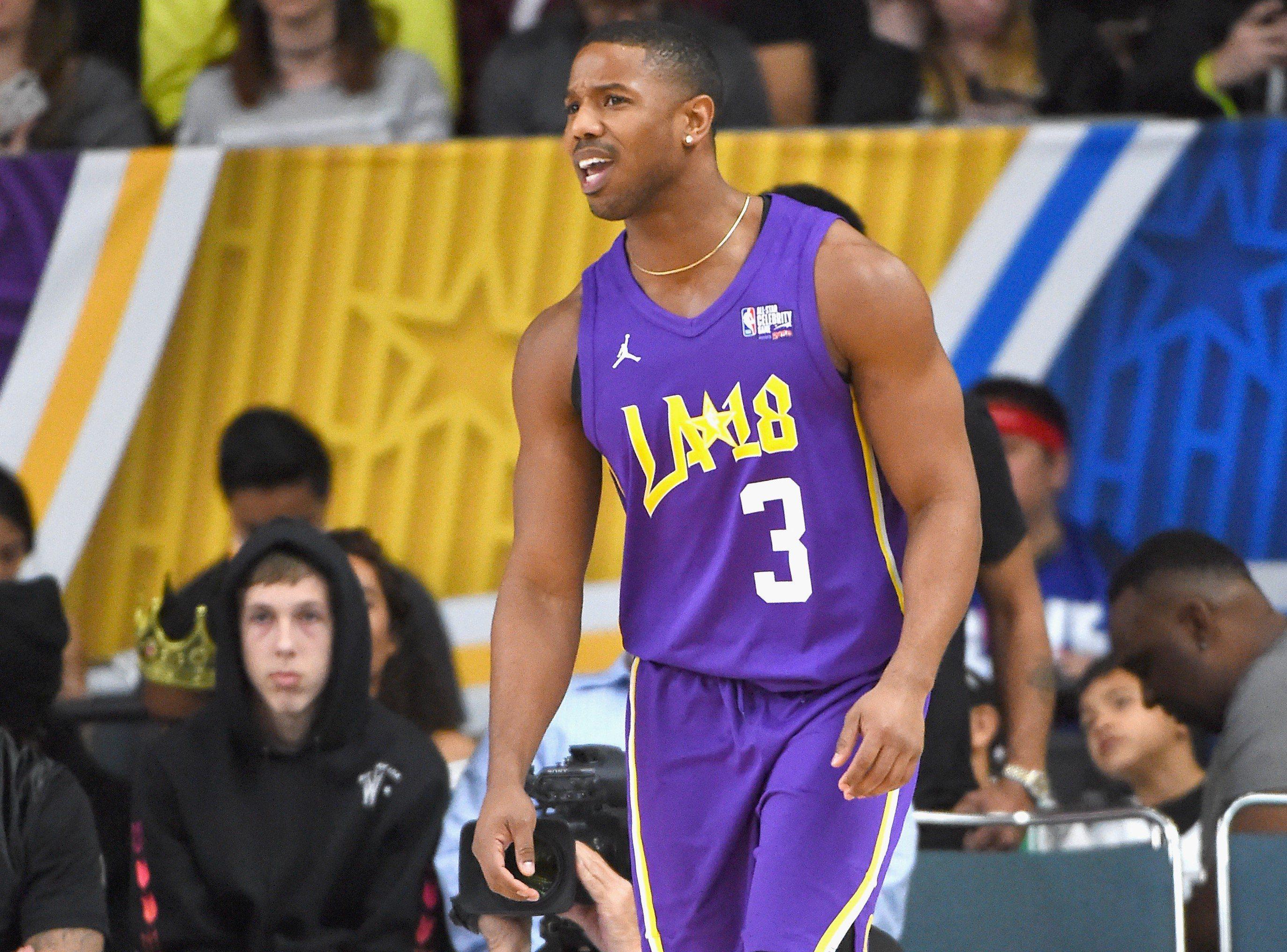 2018 NBA All-Star Game Celebrity Game Michael B. Jordan