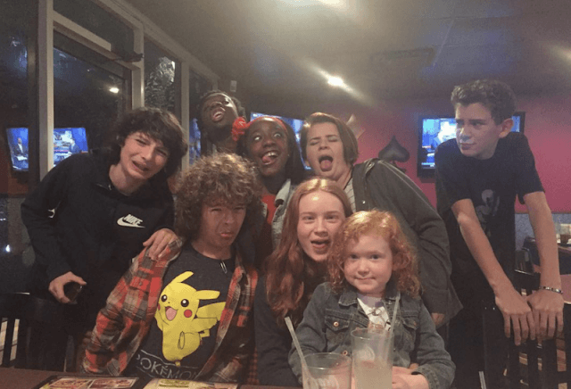 The 'Stranger Things' cast together at a party.