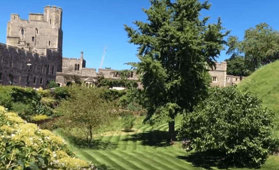 Moat gardens Windsor Castle