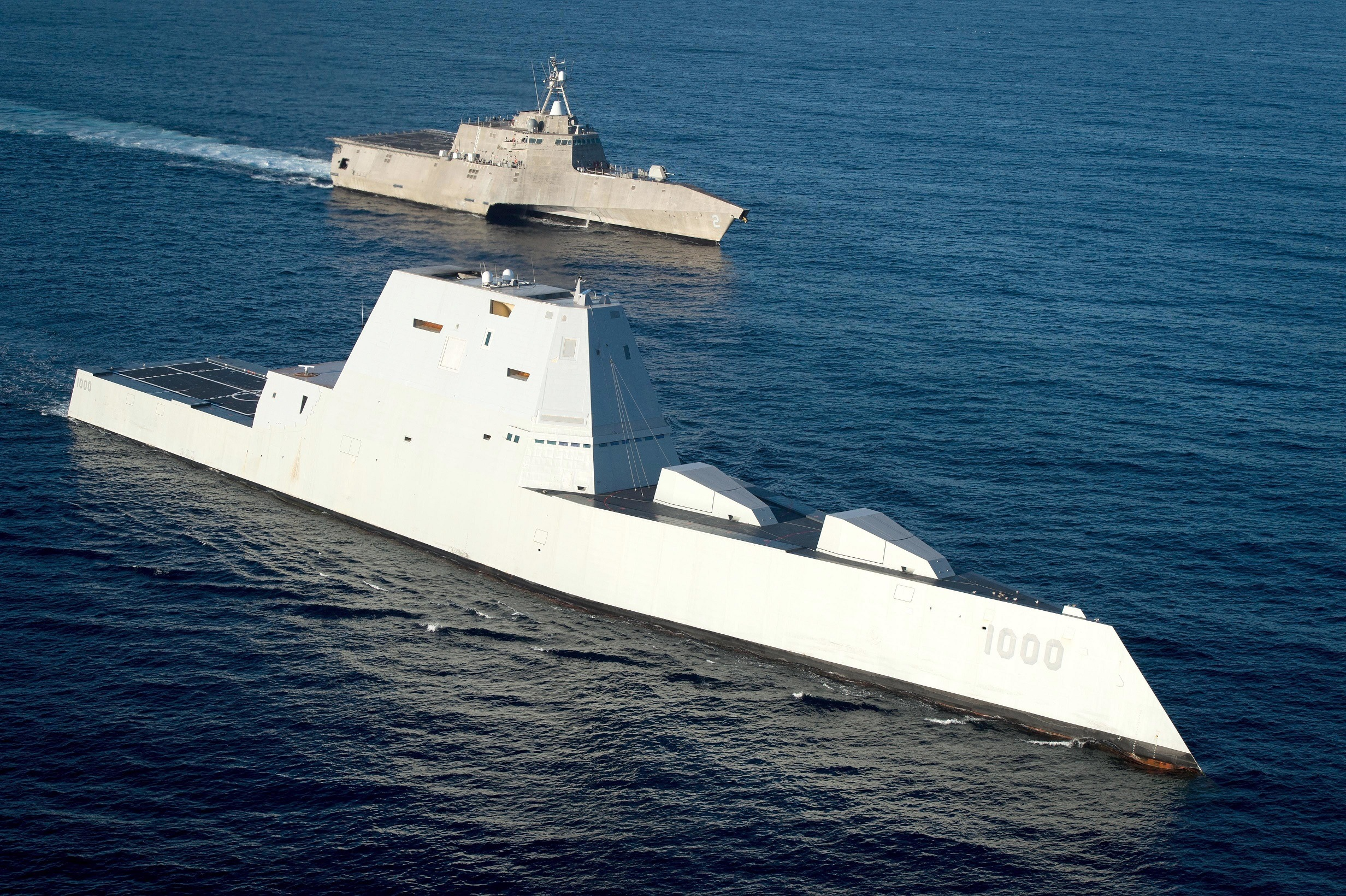 USS Zumwalt is on the final leg of its three-month journey to its new homeport in San Diego.
