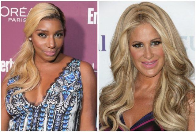 Collage featuring Nene Leaks and Kim Zolciak.