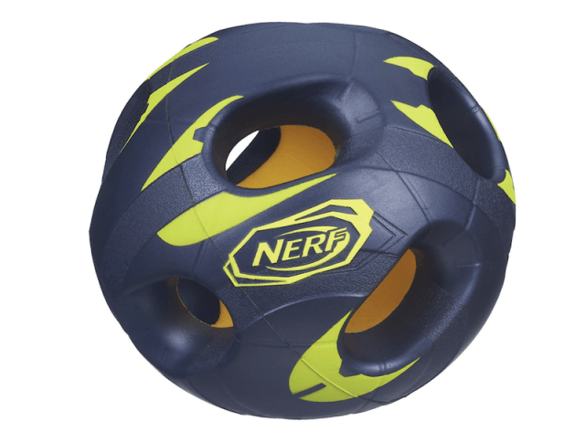 A nerf ball on a white background.