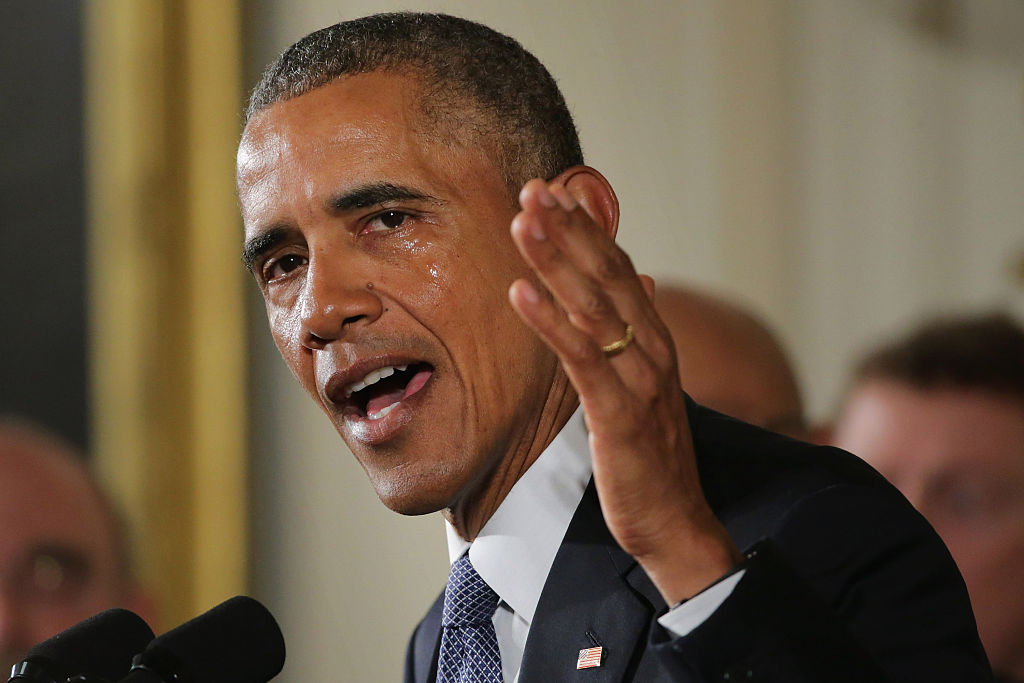 President Obama Speaks In The East Room Of White House On Efforts To Reduce Gun Violence