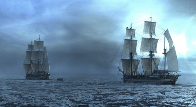 Two ships seen close to each other in 'The Terror'.
