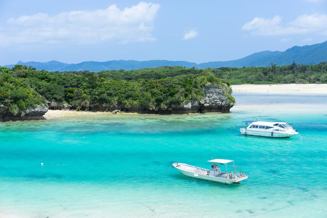Idyllic tropical lagoon beach paradise of Okinawa, Japan