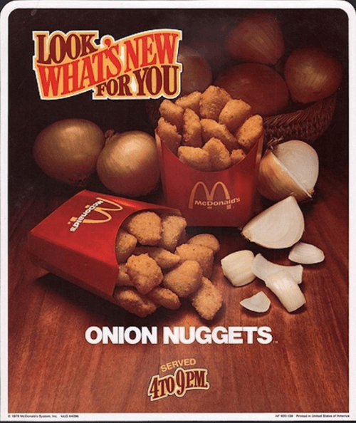 Onion nuggets Mcdonald's