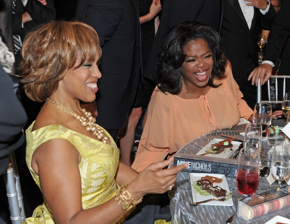 Gayle King and Oprah Winfrey