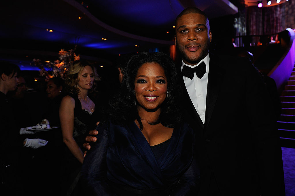 TV personality Oprah Winfrey and executive producer Tyler Perry