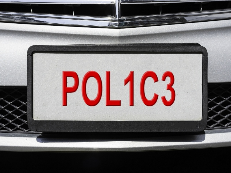 POL1C3 licence plate