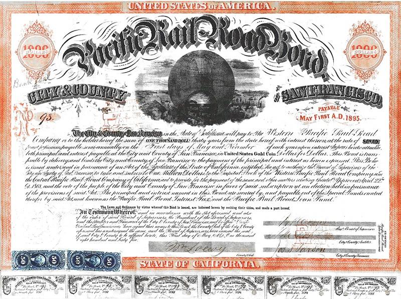 Pacific Railroad bond