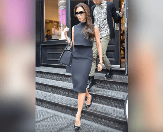 Victoria Beckham looking office ready.