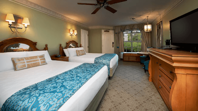 Disney Port Orleans hotel room interior