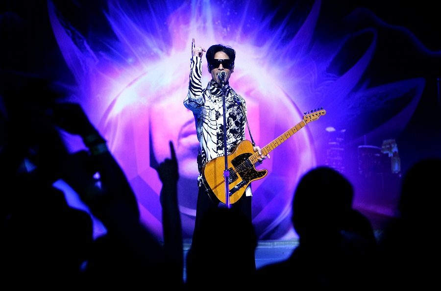 Musician Prince performing
