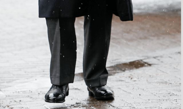 Prince Charles and his black shoes.