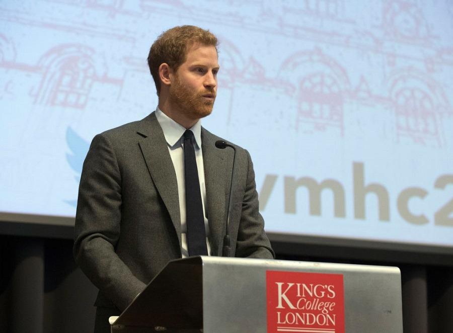 Prince Harry delivers a keynote speech
