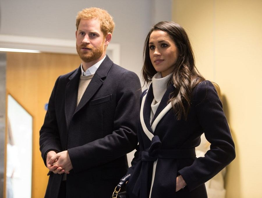 Britain's Prince Harry (L) and his fiancee US actress Meghan Markle