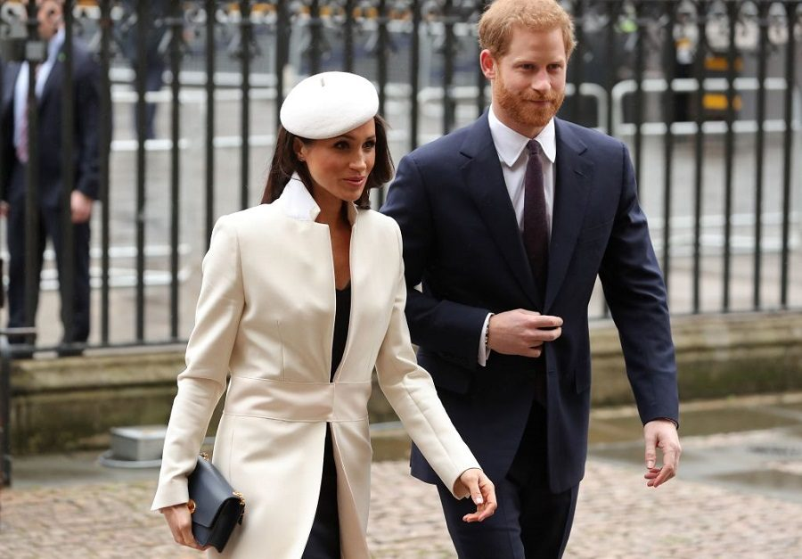 Britain's Prince Harry and his fiancee US actress Meghan Markle attend a Commonwealth Day Service at Westminster Abbey in central London, on March 12, 2018.