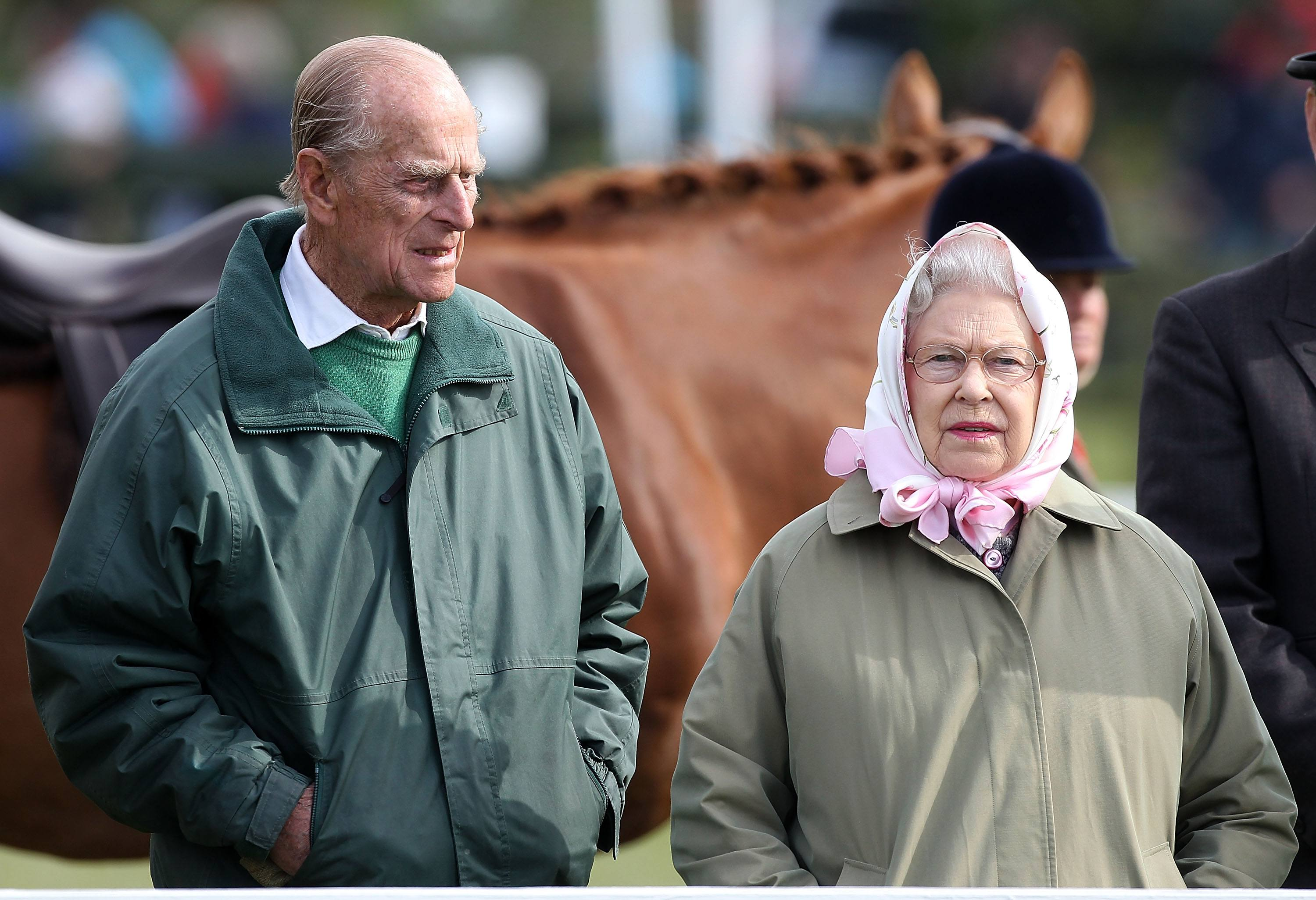 Royal Windsor Horse Show Queen Elizabeth and Prince Philip