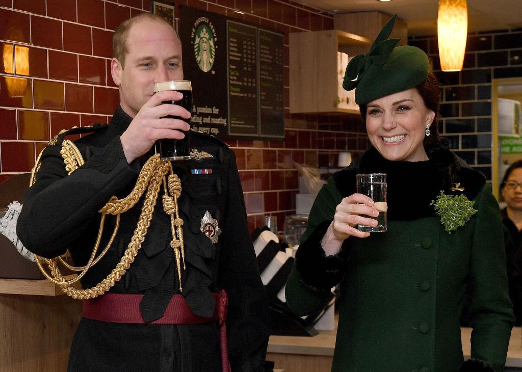 Prince William and Kate Middleton at Starbucks