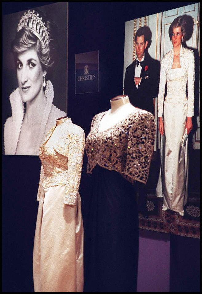 Dresses from the collection of Diana the Princess of Wales