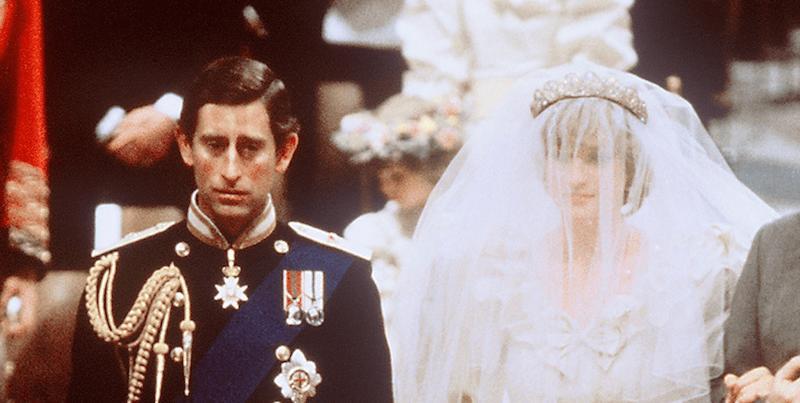 Princess Diana on her wedding day to Prince Charles