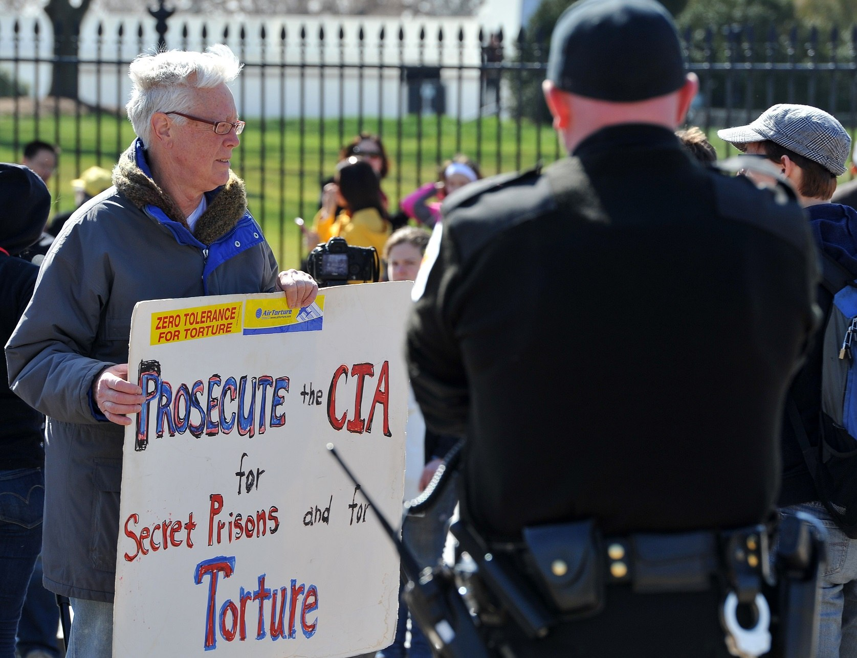 Protesters against CIA torture