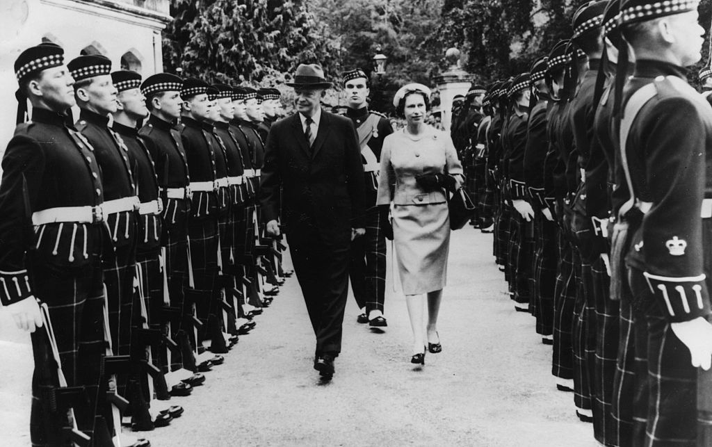 General Eisenhower And HM The Queen Elizabeth