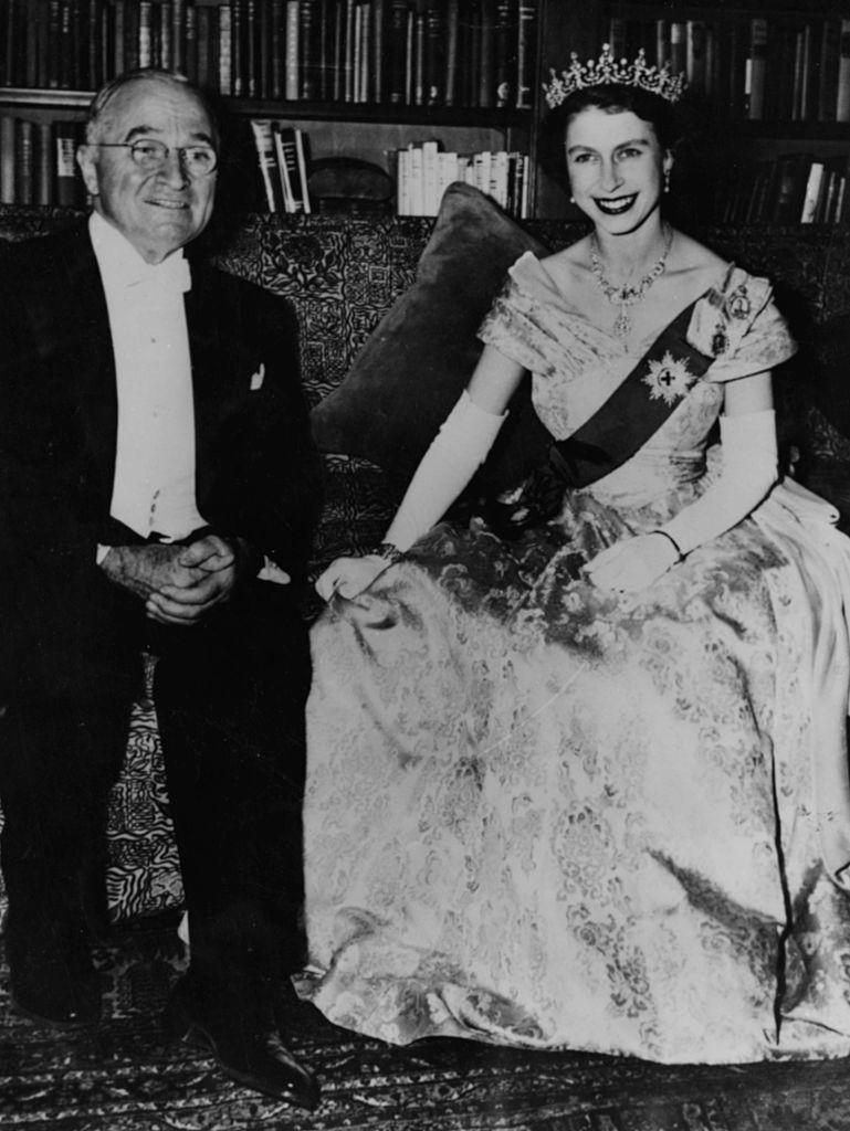 Harry S Truman And Princess (future Queen) Elizabeth