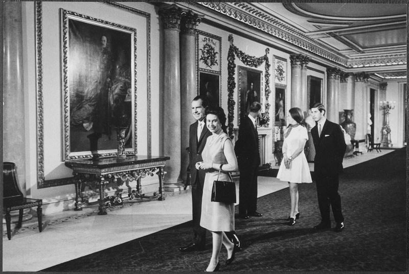 Queen Elizabeth and Richard Nixon