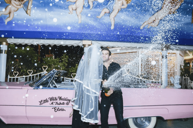 Quentin and Peter on their wedding day in Vegas.