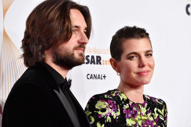 Charlotte Casiraghi and Dimitri Rassan arrive at the Cesar Film Awards