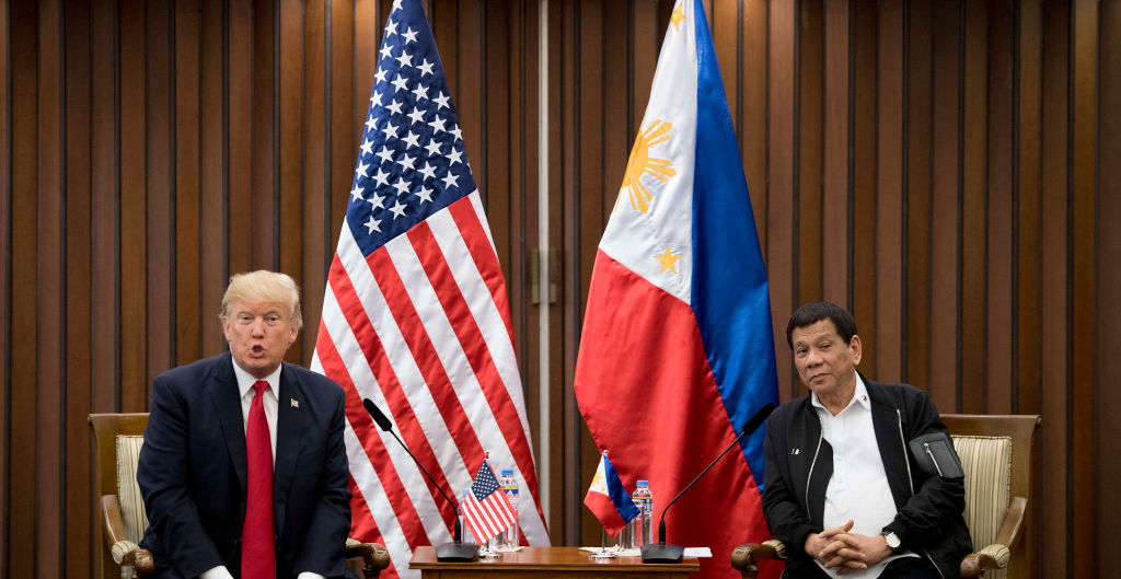 Donald Trump with Rodrigo-Duterte