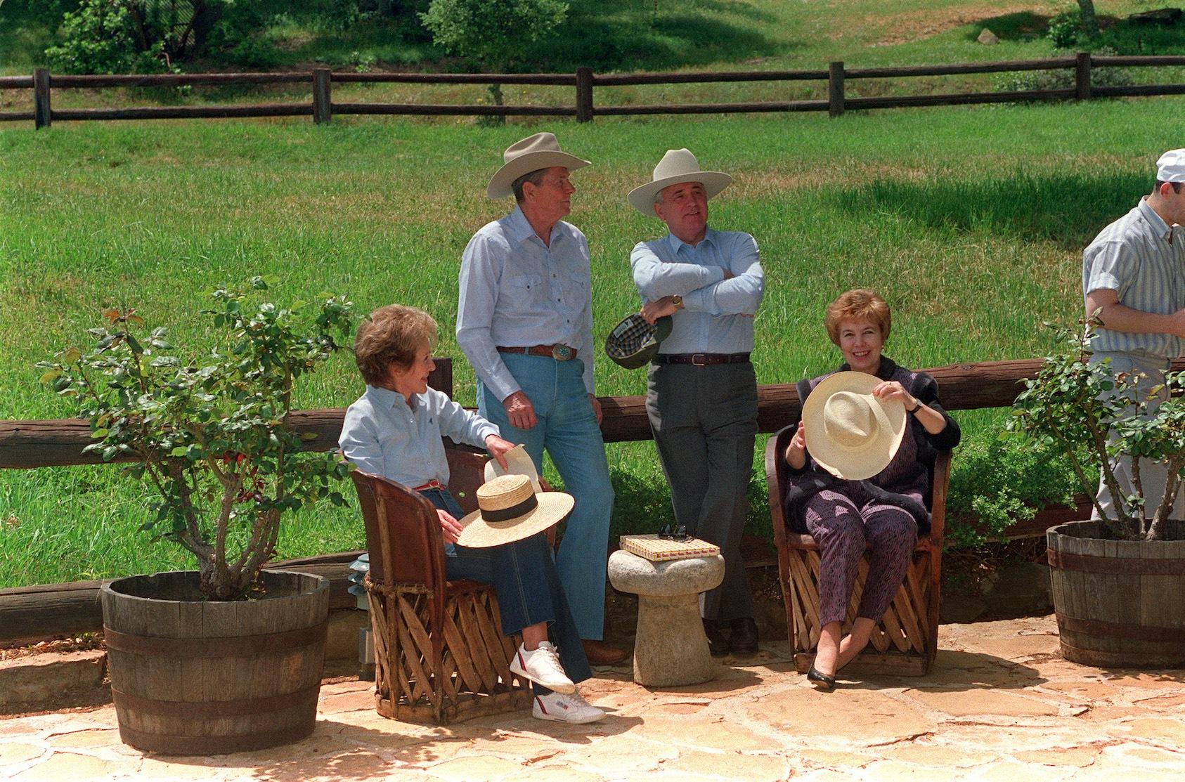 Ronald reagan at his ranch in Santa Barbara