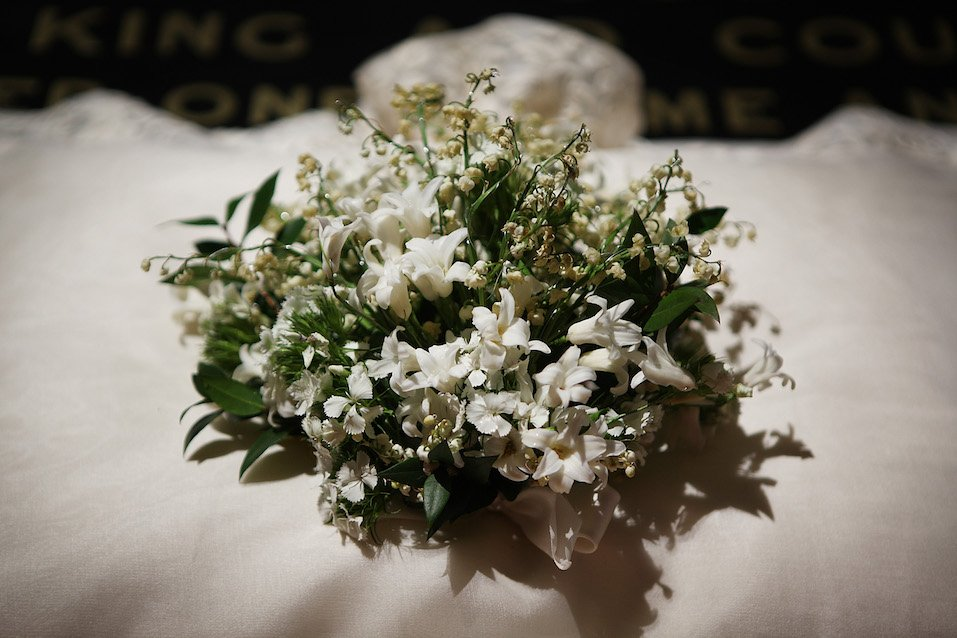 The wedding bouquet of Catherine, Duchess of Cambridge