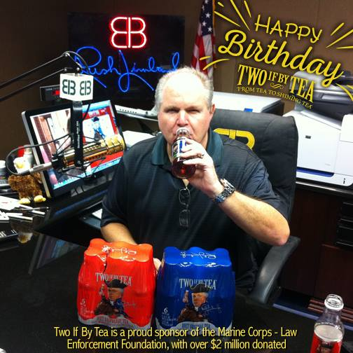 Rush Limbaugh Two if by tea