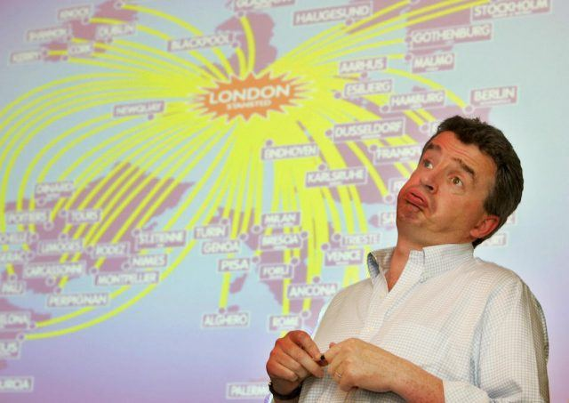Ryanair chief executive officer Michael O'Leary presents the annual results of the company