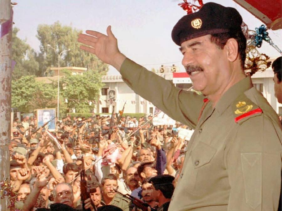 Iraqi President Saddam Hussein