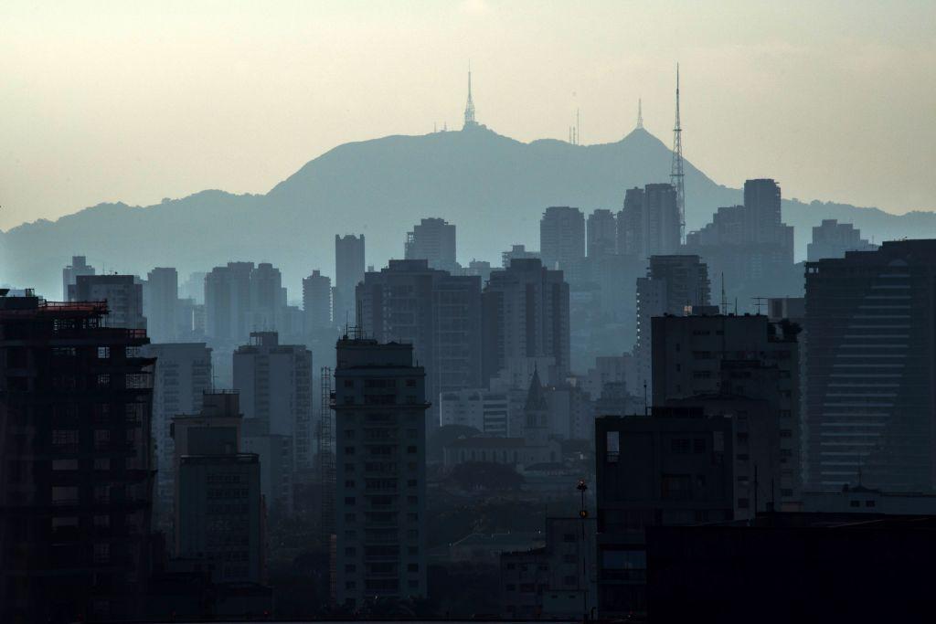 Aerial view of Jaragua Peak in Sao Paulo, Brazil
