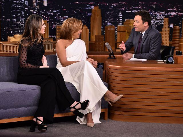Savannah Guthrie & Hoda Kotb Visit 'The Tonight Show Starring Jimmy Fallon' at Rockefeller Center on January 17, 2018 in New York City.